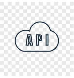 Api concept linear icon isolated on transparent vector