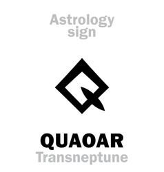 Astrology planetoid quaoar vector