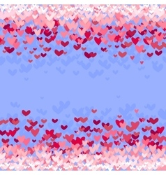 Background with red hearts vector image vector image
