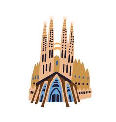Barcelona spain - april 5 2021 basilica de la vector