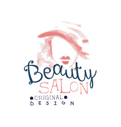 beauty salon logo original design label for hair vector image