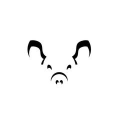 black pig logo icon symbol element vector image