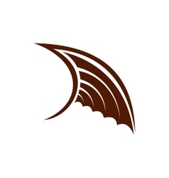 Brown birds wing icon flat style vector image