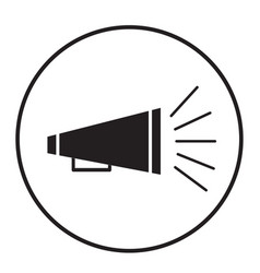 bullhorn icon on white background announce sign vector image