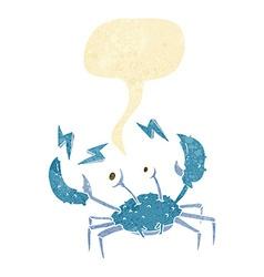 Cartoon crab with speech bubble vector