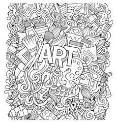 Cartoon cute doodles hand drawn vector