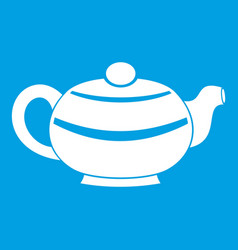 Chinese teapot icon white vector