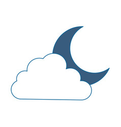 cloud sky with moon vector image