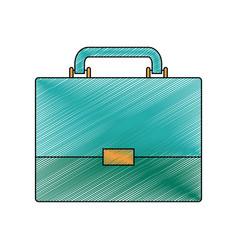 Color crayon stripe silhouette of executive vector