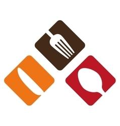 Color cutlery icon image design vector image