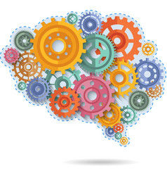 Color Gears Of Brain vector