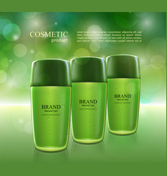Cosmetic ads poster moisturizing nourishing cream vector