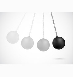 demolition ball heavy black wrecking sphere vector image