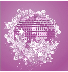 Discoball with floral vector