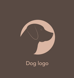 Dog labrador logo vector