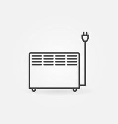electric con heater concept outline vector image