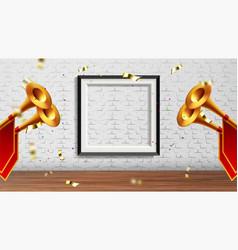 enchanting presentation in exhibition hall vector image