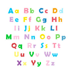 english color alphabet vector image