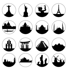 famous places of the world vector image