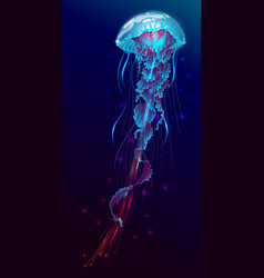 Fantasy glowing jellyfish vector