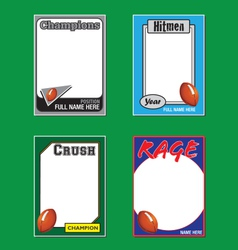 Football Cards vector image