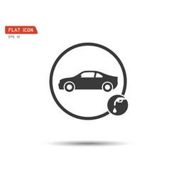gas pump icon flat logo vector image