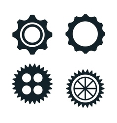 gears machine work icon vector image