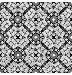 Greek black and white geometric seamless pattern vector