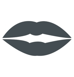 grey lips icon vector image