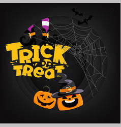 halloween party card with lettering iscription vector image