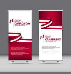 Happy canada independence day creative design vector
