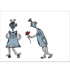 Happy Robots Date vector image