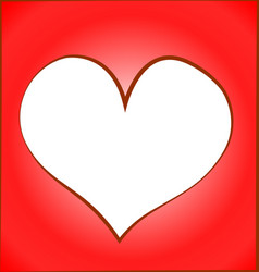 Heart cut out red background vector