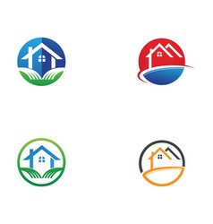 home logo and symbols vector image