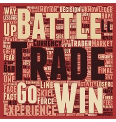 How to Win the Forex Battle text background vector image