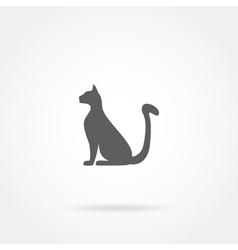 Icon sitting cat vector