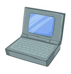 Laptop gadget with small monitor and keyboard vector