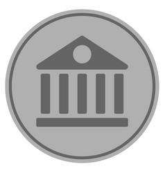 Library house silver coin vector