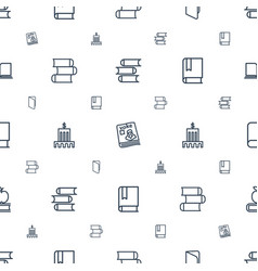 library icons pattern seamless white background vector image