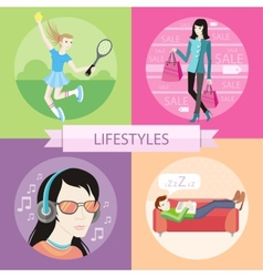 Lifestyles concepts vector image