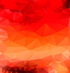 Light orange red abstract polygonal background vector image