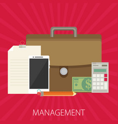 management flat design concept vector image