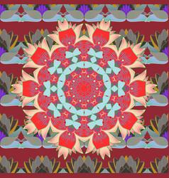 mandala pattern east islam thai indian ottoman vector image