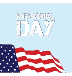 Memorial day flag design eps 10 grouped for easy vector