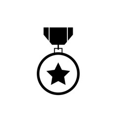 military reward metal icon vector image