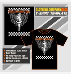 mock up clothing company t-shirt templatespark vector image
