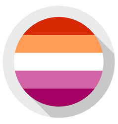 New lesbian pride flag created in 2018 round vector