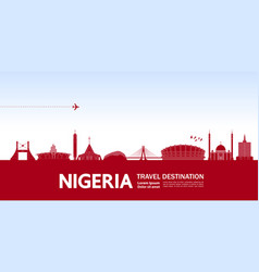 Nigeria travel destination vector