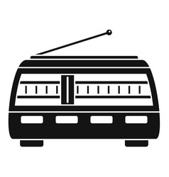 old retro radio icon simple style vector image