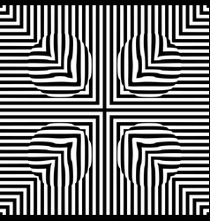 Optical illusion lines background abstract 3d vector